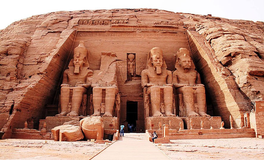 Abu Simbel Tempel Felsentempel des Pharaos Ramses II