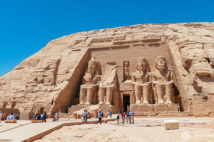 Abu Simbel Temple lies further south of Aswan Egypt