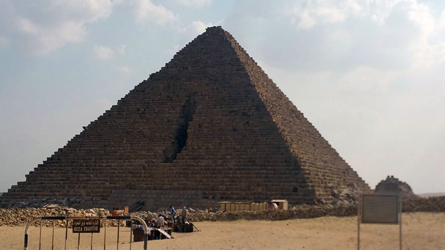 Giza pyramids being among the wonders of the ancient Egypt