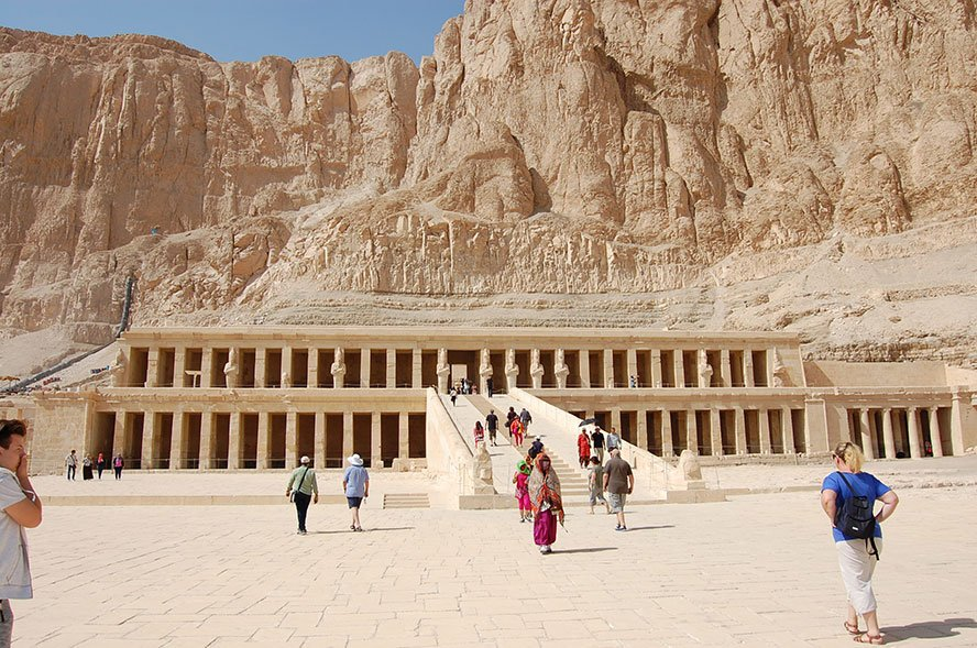 Hatshepsut Temple Luxor Egypt | unusual architecture of the temple differs