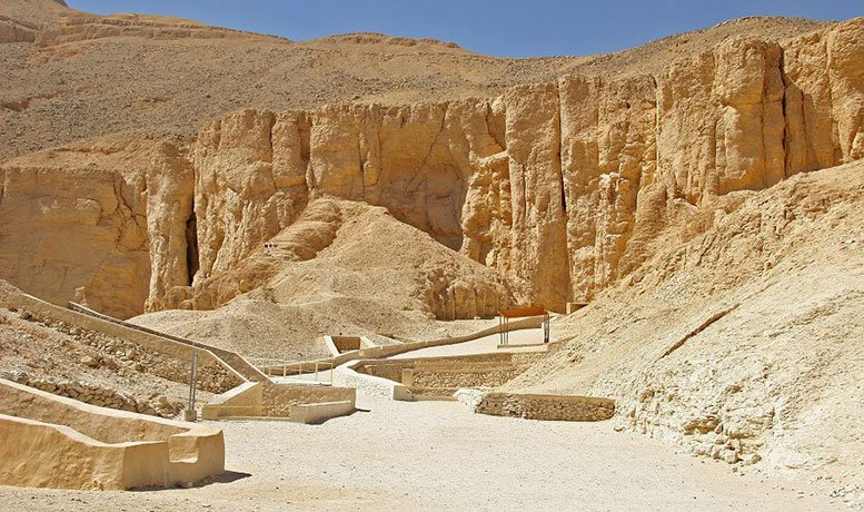 Valley of the Kings on the west bank of the Nile Luxor Egypt